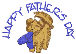 Happy Fathers Day embroidery design
