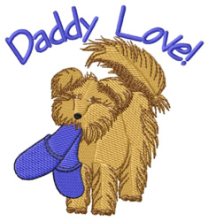 Daddy Love embroidery design