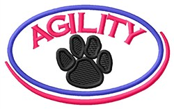 Agility Oval embroidery design