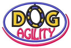 Dog Agility embroidery design