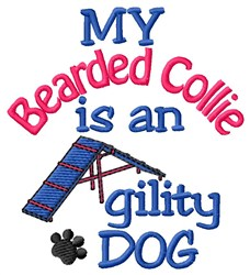 Beared Collie embroidery design