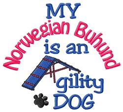 Norwegian Buhund embroidery design