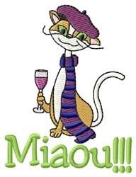 Miaou Cat embroidery design