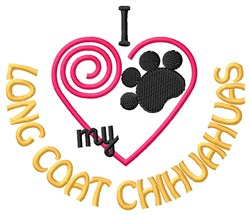 Long Coat Chihuahuas embroidery design