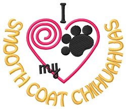 Smooth Coat Chihuahuas embroidery design