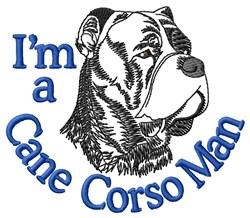 Cane Corso Man embroidery design