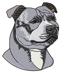 Staffy Head embroidery design