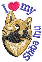 Love Shiba Inu embroidery design