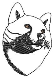 Shiba Inu Outline embroidery design