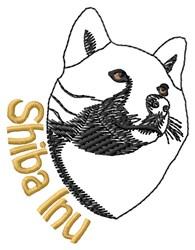 Shiba Inu Head embroidery design
