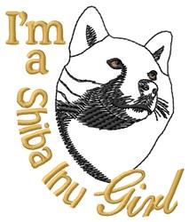 Shiba Inu Girl embroidery design