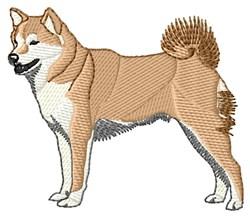 Shibu Inu embroidery design