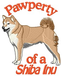 Pawperty Of Shiba Inu embroidery design
