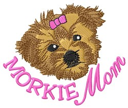 Morkie Mom embroidery design