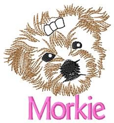 Morkie Head embroidery design