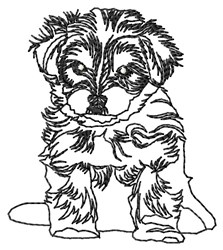 Morkie Outline embroidery design