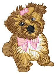Morkie Girl embroidery design