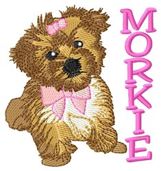 Morkie Dog embroidery design