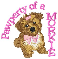 Pawperty Morkie embroidery design