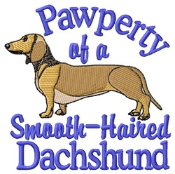 Pawperty Of Dachshund embroidery design