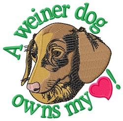 Weiner Dog embroidery design