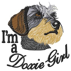 Doxie Girl embroidery design