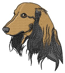 Long-Haired Face embroidery design