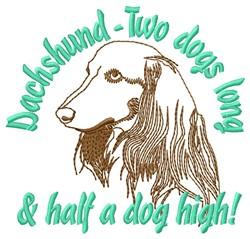 Half Dog High embroidery design