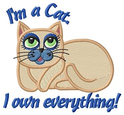 Cat Princess embroidery design