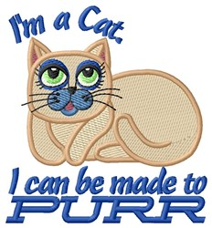 Im Purrfect embroidery design
