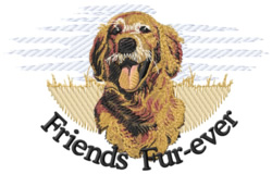 Friends Fur-Ever embroidery design