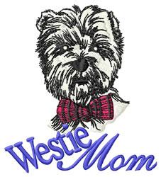 Westie Mom embroidery design
