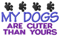 Dogs Are Cuter embroidery design