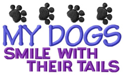 Dogs Smile embroidery design
