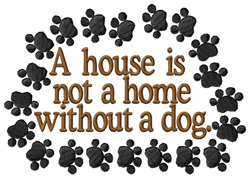 Without a Dog embroidery design