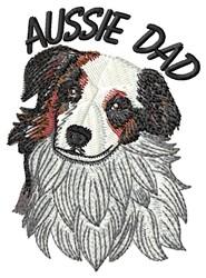Aussie Dad embroidery design