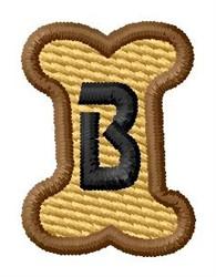 Doggie Letter B embroidery design