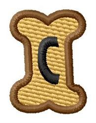 Doggie Letter C embroidery design