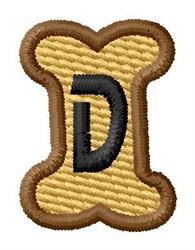 Doggie Letter D embroidery design