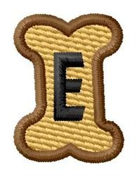 Doggie Letter E embroidery design