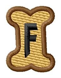 Doggie Letter F embroidery design