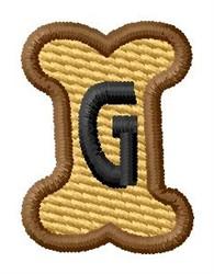 Doggie Letter G embroidery design