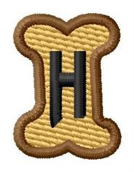 Doggie Letter H embroidery design