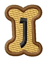 Doggie Letter J embroidery design