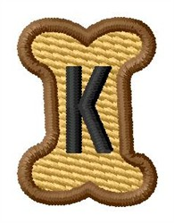 Doggie Letter K embroidery design