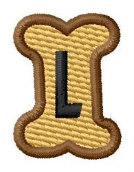 Doggie Letter L embroidery design