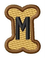 Doggie Letter M embroidery design