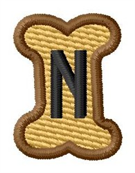 Doggie Letter N embroidery design