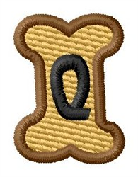 Doggie Letter Q embroidery design
