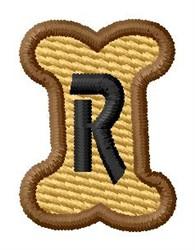 Doggie Letter R embroidery design